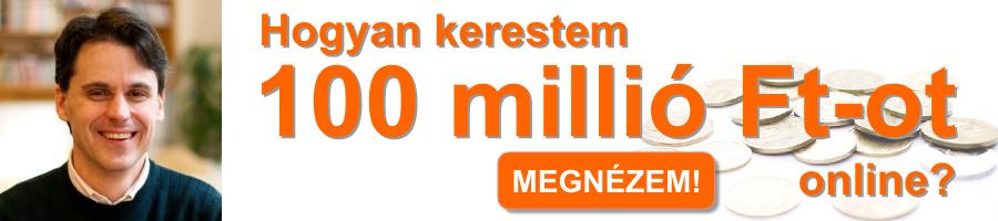 Hogyan kerestem 100 millió Ft-ot online?