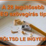 A 2 legütősebb SEO szövegírás tipp