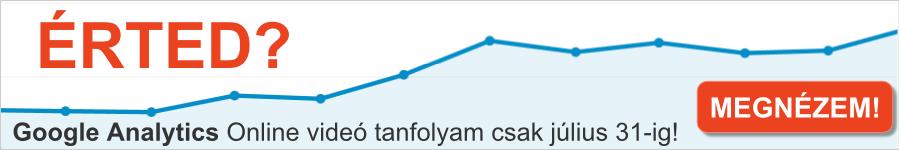 Google Analytics online videó tanfolyam banner
