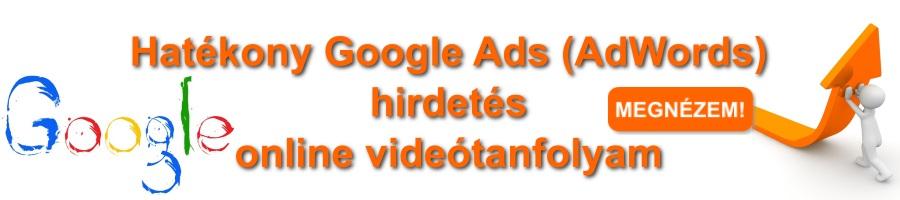 Google Ads (AdWords) online képzés banner