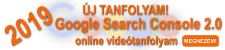 Google Search Console 2.0 képzés banner