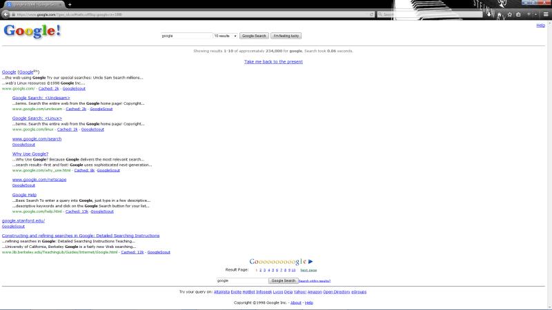 Google 1998-ban