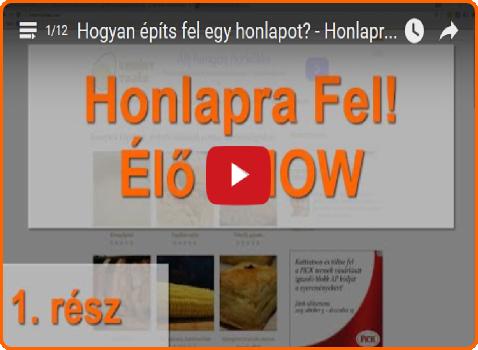 Honlapra Fel! élő show (videó sorozat!)