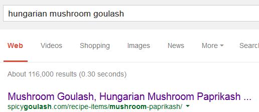 Hungarian Mushroom Goulash SERP
