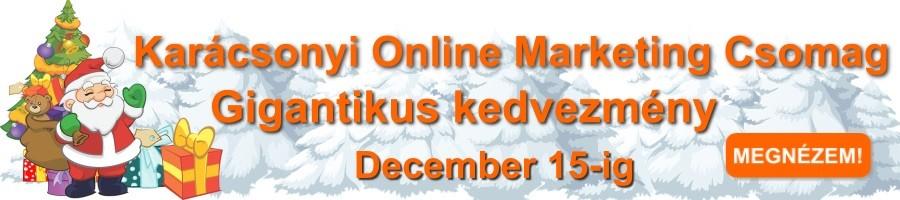 Honlapra Fel! Karácsonyi Online Marketing Csomag banner