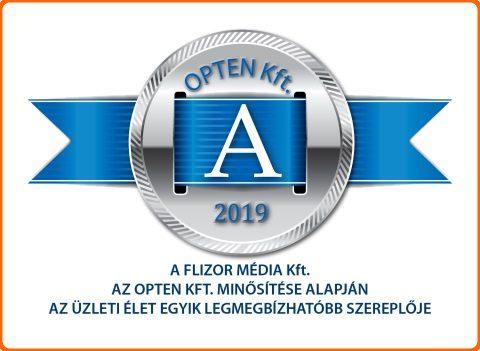 """""""A"""" minősítést kaptunk az OPTEN Kft-től"""