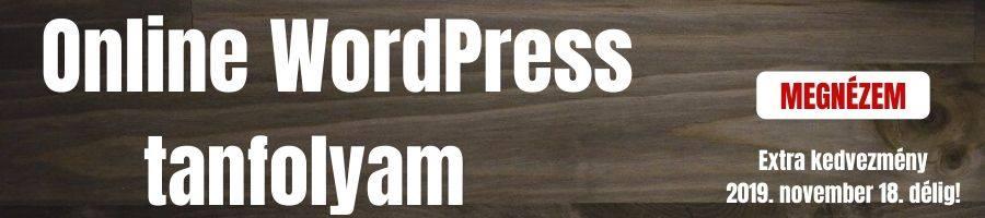 Online WordPress Tanfolyam banner