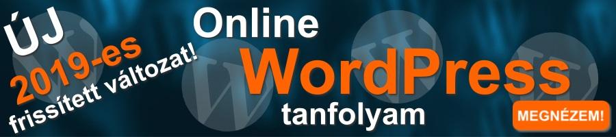 Online WordPress Tanfolyam 2019 banner?