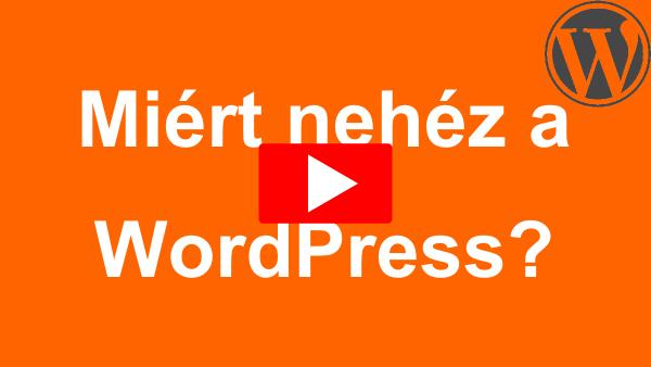 Online WordPress Tanfolyam banner - Miért nehéz a WordPress?