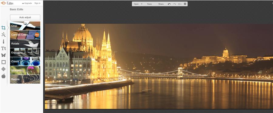 PicMonkey ingyenes online képszerkesztő használata