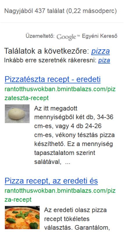 Pizza recept találatok
