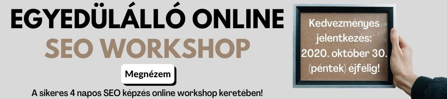 SEO workshop banner akció