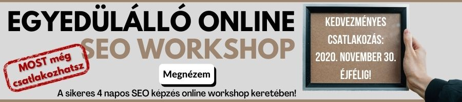 SEO workshop csatlakozás banner akció