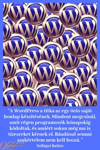 Saját honlap készítée WordPress