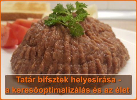 Tatár bifsztek helyesírása (tatárbifsztek, tatár beefsteak stb.) – a keresőoptimalizálás és az élet