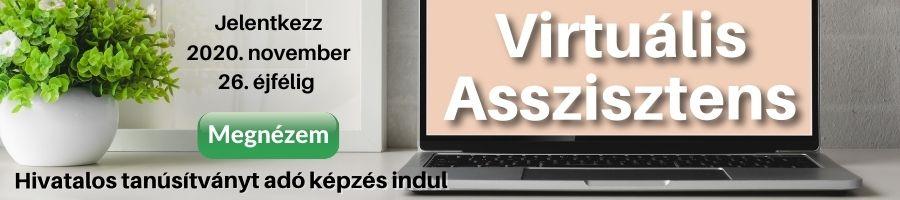 Virtuális asszisztens képzés banner akció