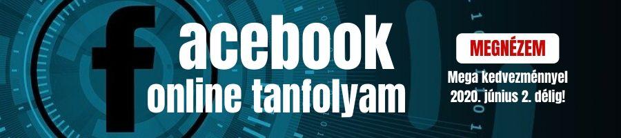 Facebook online videótanfolyam akció