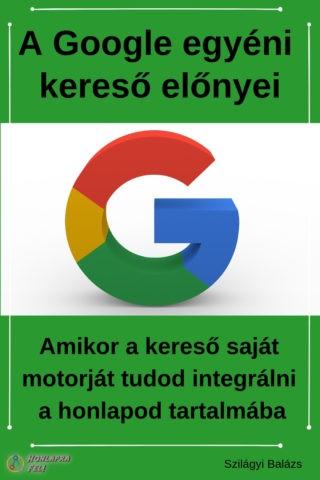 google egyéni kereső előnyei