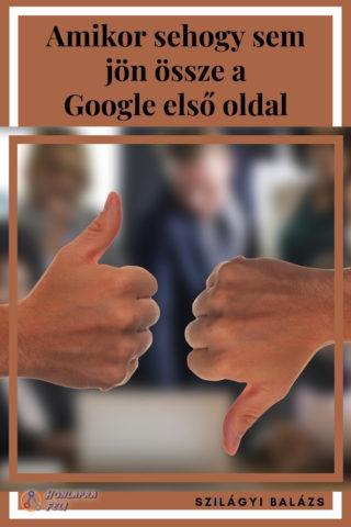 Google első oldal nem jön össze