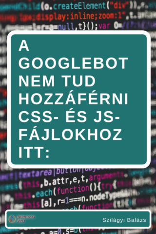 Googlebot nem tud hozzáférni css, js fileokhoz