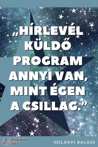 hírlevél küldő program mint égen a csillag