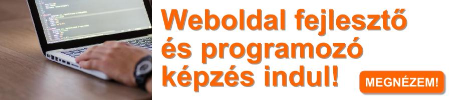 Weboldal fejlesztő és programozó képzés indul