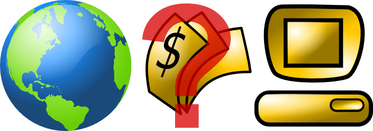 Internet - pénz - kérdőjel