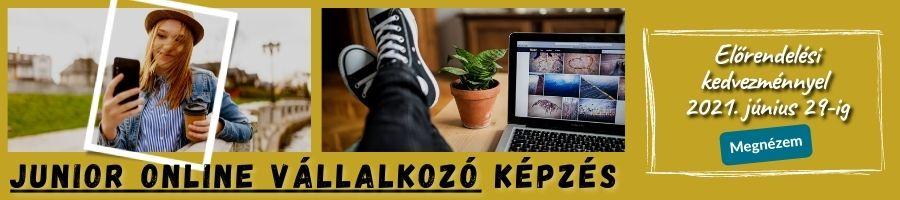 Junior online vállakozó képzés banner
