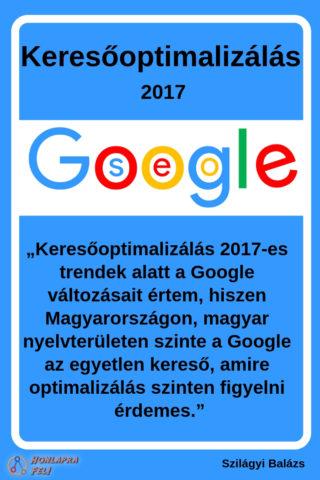 keresőoptimalizálás 2017 Google