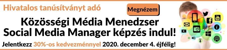 Közösségi média menedzser banner akció