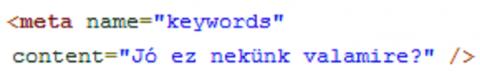 meta keywords tag használata