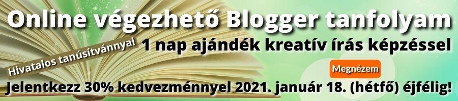 Online blogger tanfolyam banner 3 akció