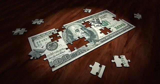Pénz puzzle kirakó