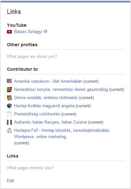 rel author google+ profil beállítása