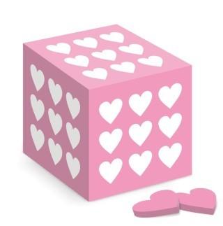 Rózsaszín szív doboz