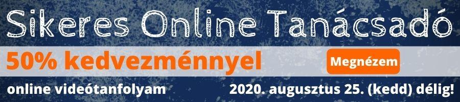 sikeres online tanácsadó banner akció