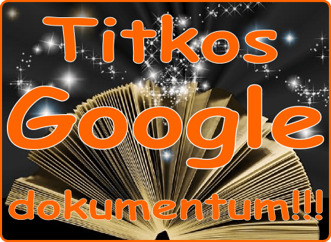 Titkos Google dokumentum