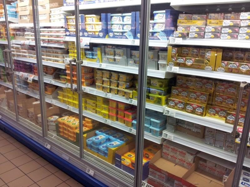Vajas-margarinos pult
