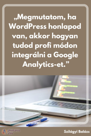 wordpress google analytics intergrálás