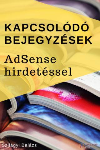 Kapcsolódó bejegyzések AdSense hirdetéssel