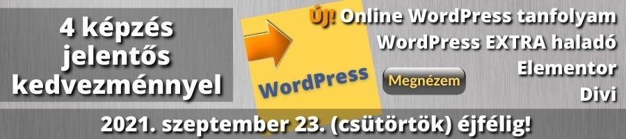 WordPress képzések banner