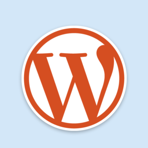 Wordpress narancs színű logó
