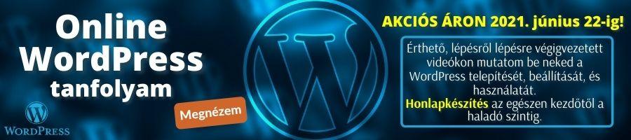 WordPress tanfolyam banner