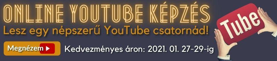 YouTube képzés banner akció
